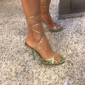 Guess high heel sandals size 8 1/2 NEVER BEEN WORN